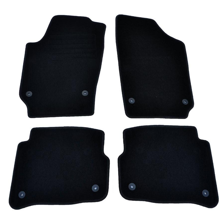 4 Tapis Sol Moquette Noir Specifique Vw Polo 9n Hudson Fix Rond Ebay