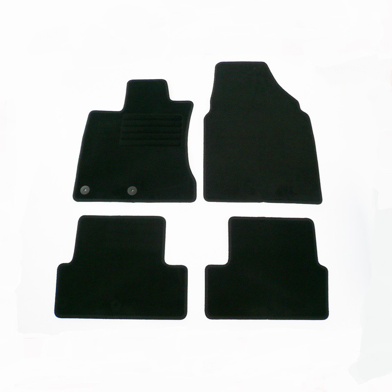4 tapis sol moquette noir specifique nissan qashqai j10 acenta ebay. Black Bedroom Furniture Sets. Home Design Ideas