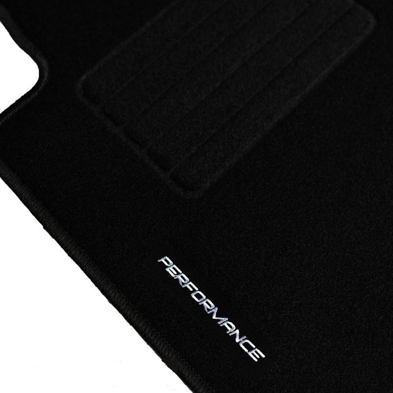 4 tapis sol moquette noir logo performance bmw serie 3 e46 decapotable 320 ci ebay. Black Bedroom Furniture Sets. Home Design Ideas